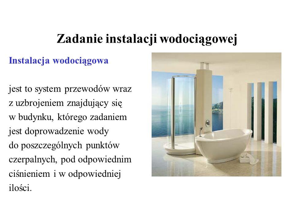 Zadanie instalacji wodociągowej