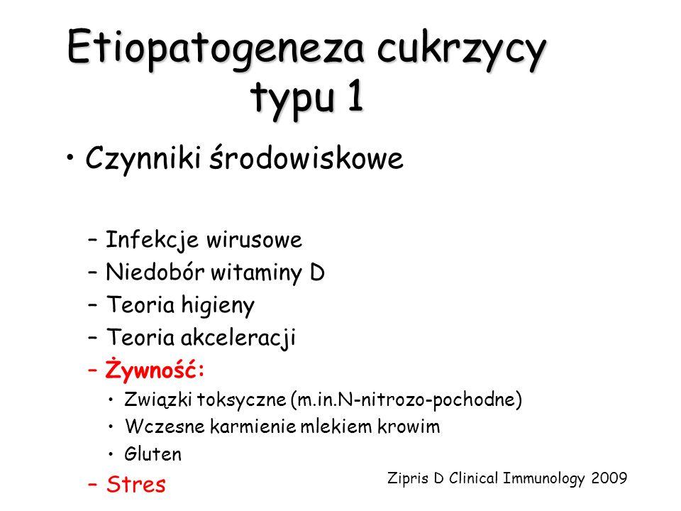 Etiopatogeneza cukrzycy typu 1