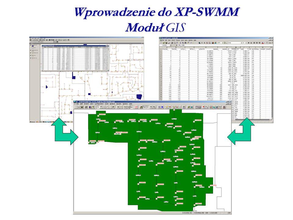 Wprowadzenie do XP-SWMM Moduł GIS
