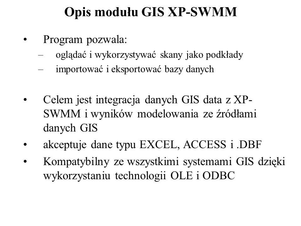 Opis modułu GIS XP-SWMM