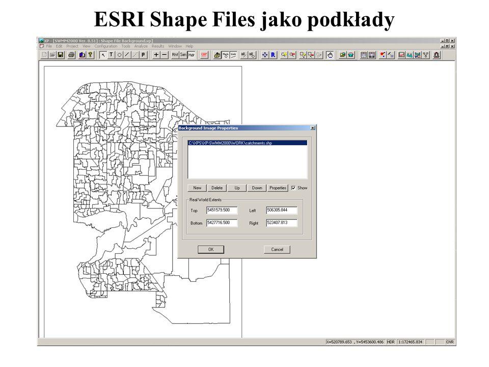 ESRI Shape Files jako podkłady