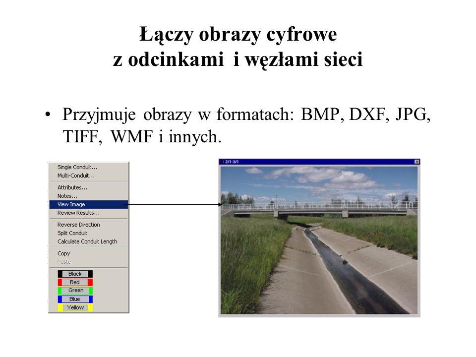 Łączy obrazy cyfrowe z odcinkami i węzłami sieci
