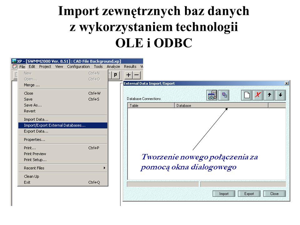 Import zewnętrznych baz danych z wykorzystaniem technologii OLE i ODBC