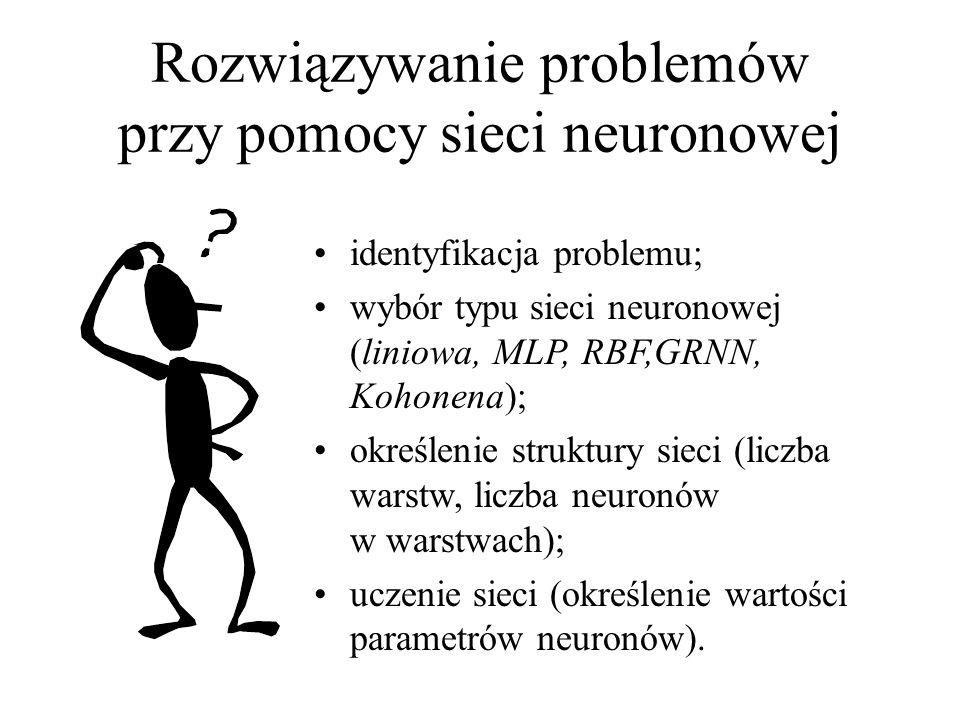 Rozwiązywanie problemów przy pomocy sieci neuronowej
