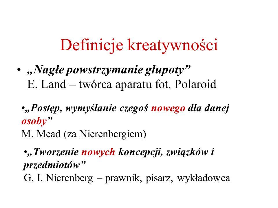 Definicje kreatywności