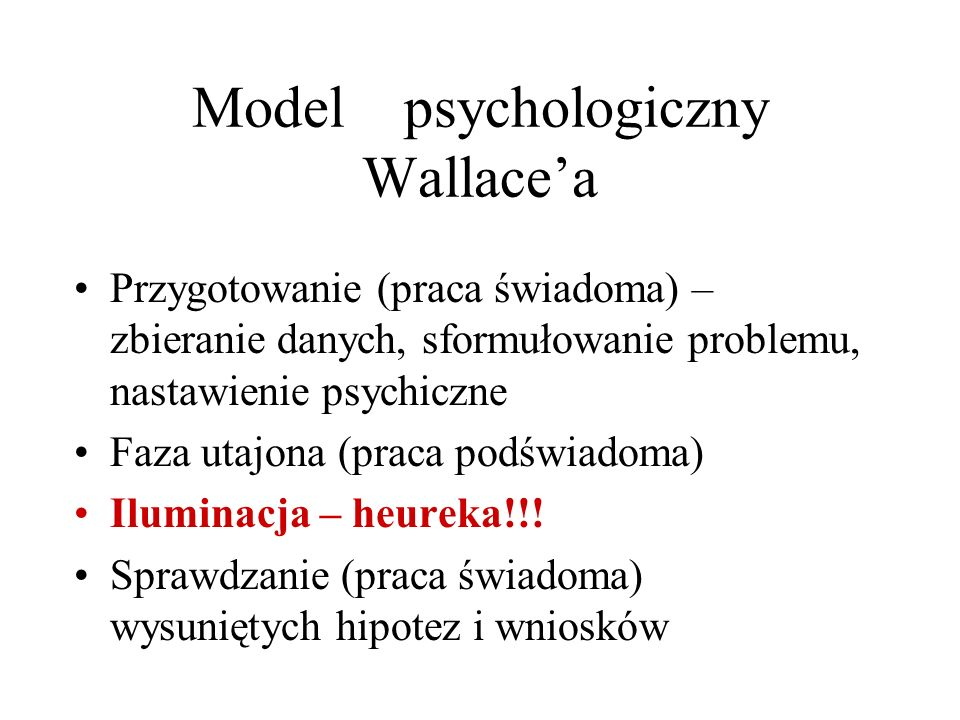 Model psychologiczny Wallace'a