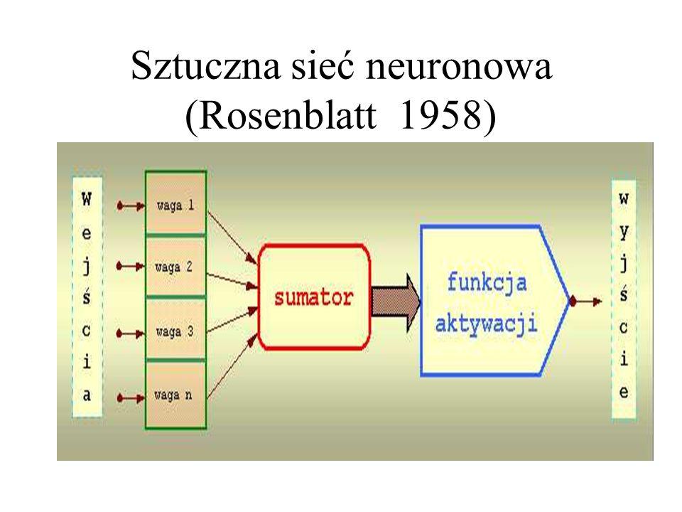 Sztuczna sieć neuronowa (Rosenblatt 1958)