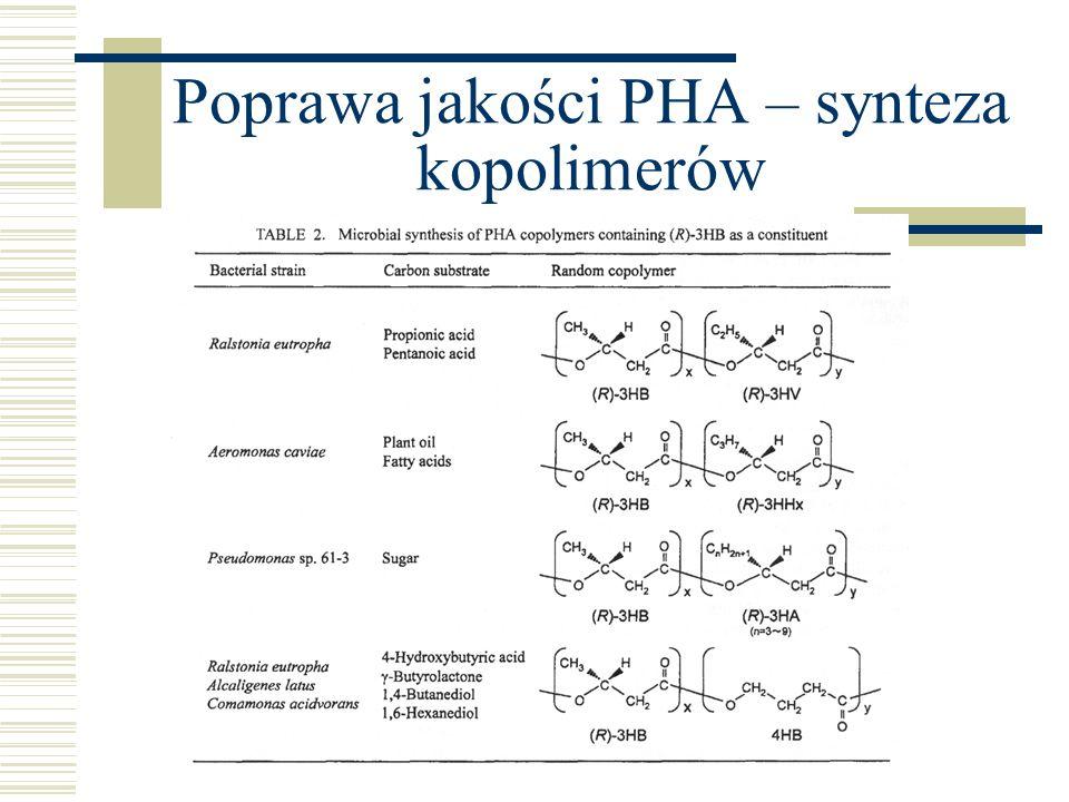 Poprawa jakości PHA – synteza kopolimerów