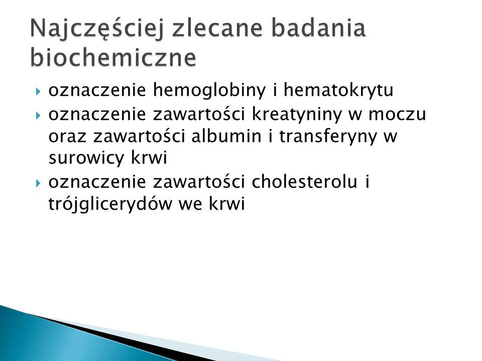Najczęściej zlecane badania biochemiczne