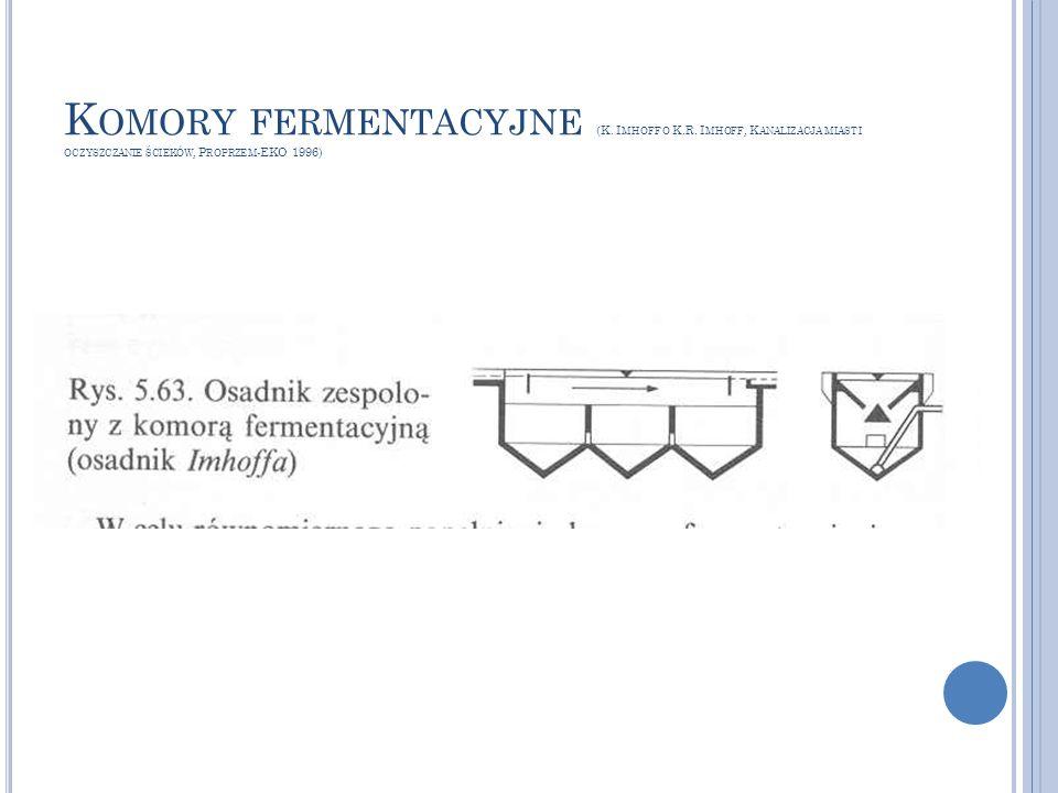 Komory fermentacyjne (K. Imhoff o K. R