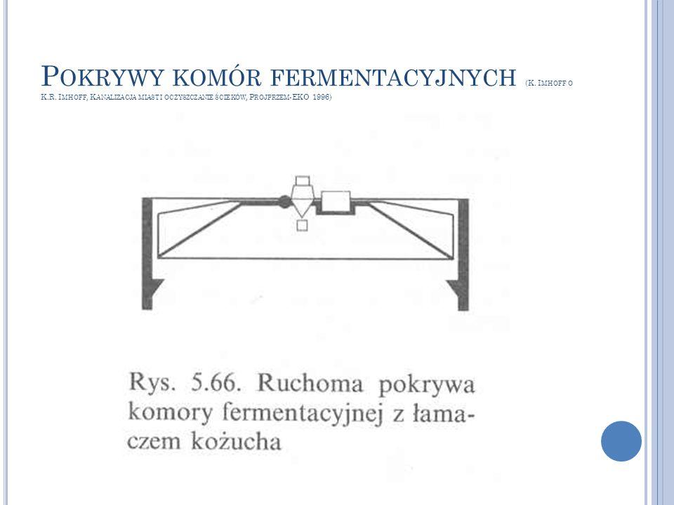 Pokrywy komór fermentacyjnych (K. Imhoff o K. R