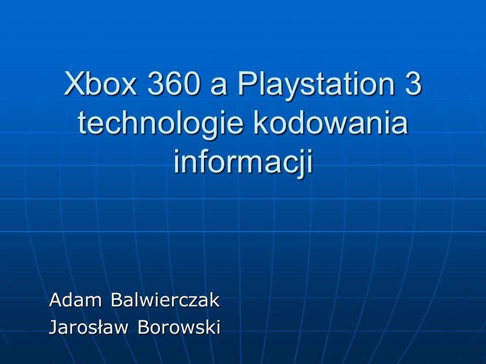 Xbox 360 a Playstation 3 technologie kodowania informacji