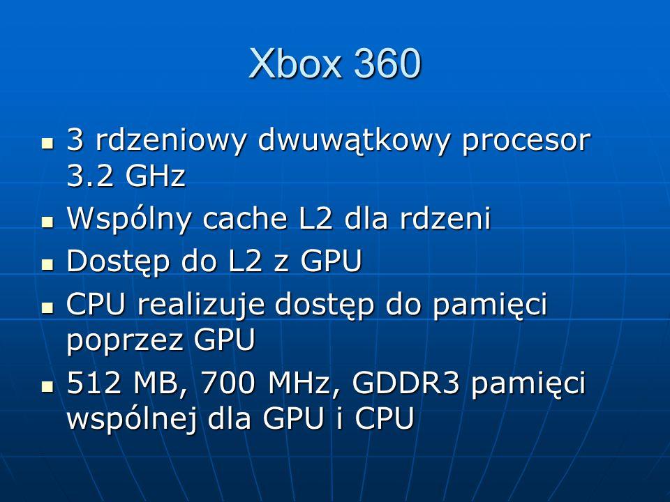 Xbox 360 3 rdzeniowy dwuwątkowy procesor 3.2 GHz