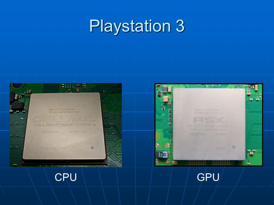 Playstation 3 CPU GPU