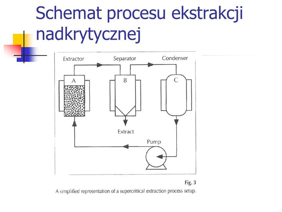 Schemat procesu ekstrakcji nadkrytycznej