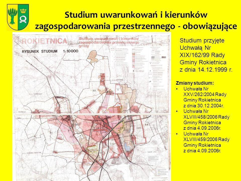 Studium uwarunkowań i kierunków zagospodarowania przestrzennego - obowiązujące