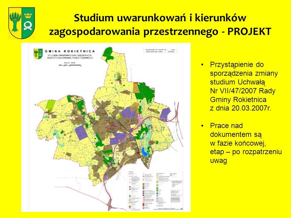 Studium uwarunkowań i kierunków zagospodarowania przestrzennego - PROJEKT