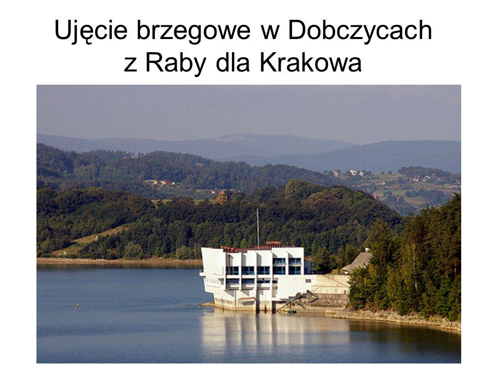 Ujęcie brzegowe w Dobczycach z Raby dla Krakowa