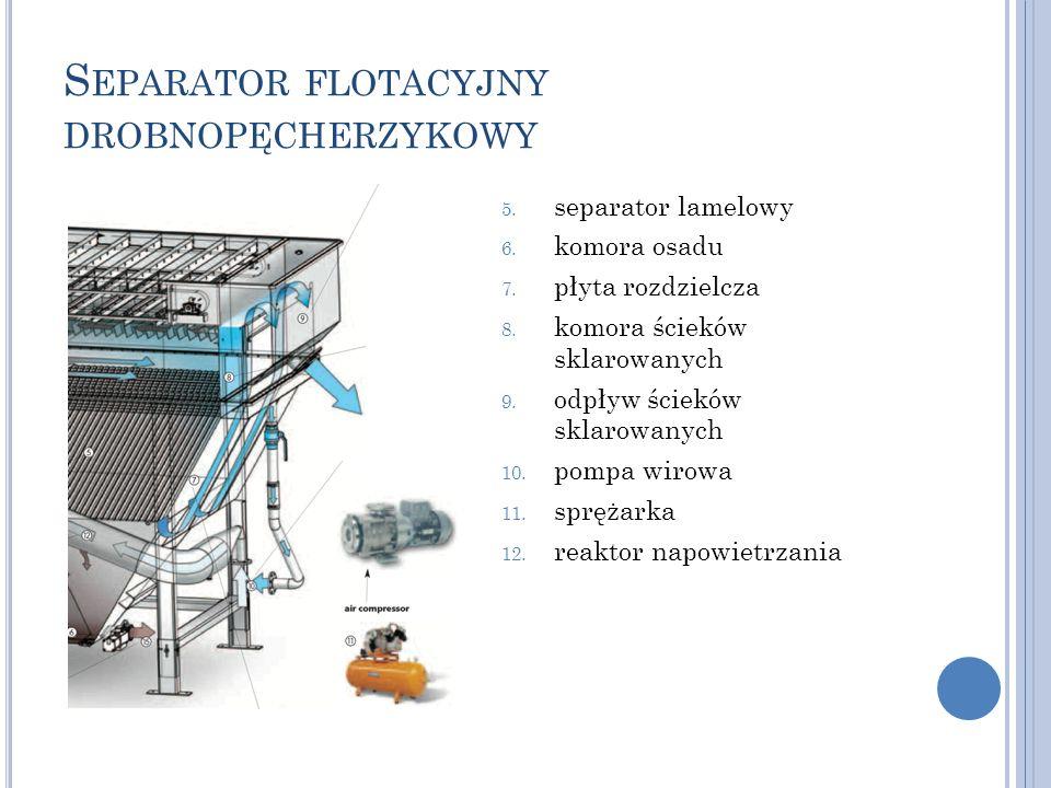 Separator flotacyjny drobnopęcherzykowy