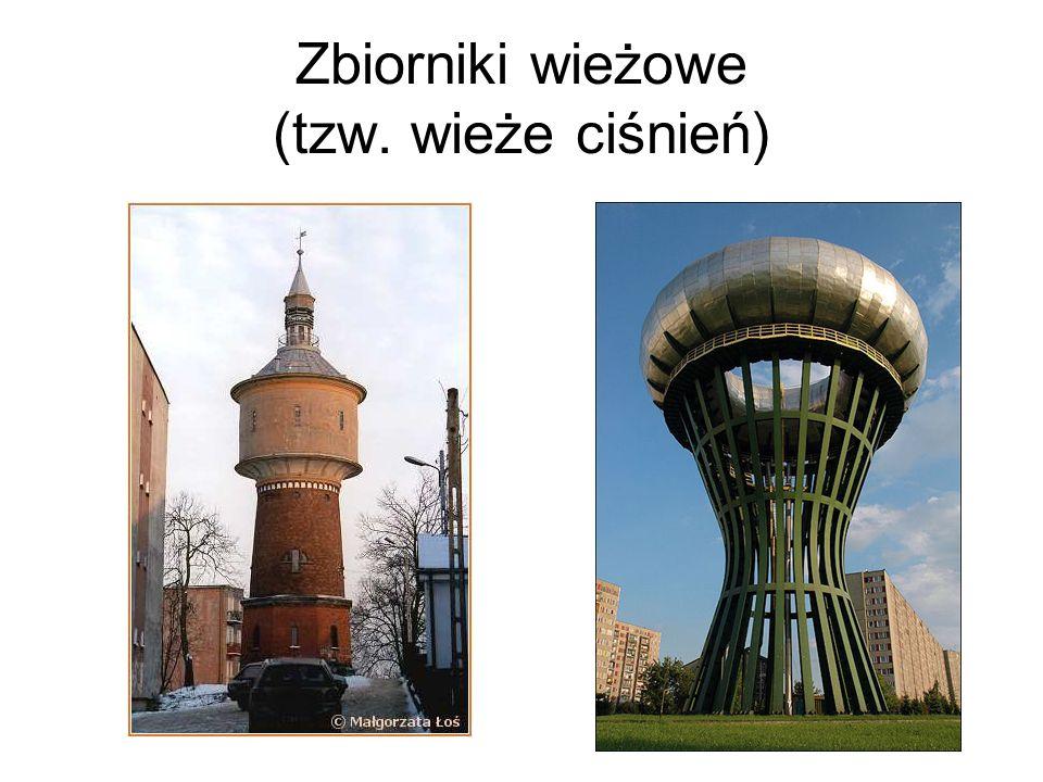 Zbiorniki wieżowe (tzw. wieże ciśnień)