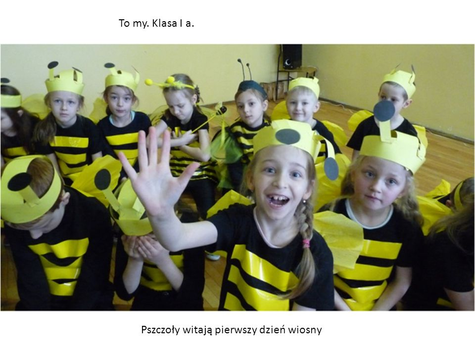 To my. Klasa I a. Pszczoły witają pierwszy dzień wiosny