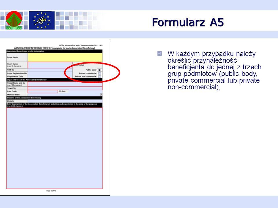 Formularz A5