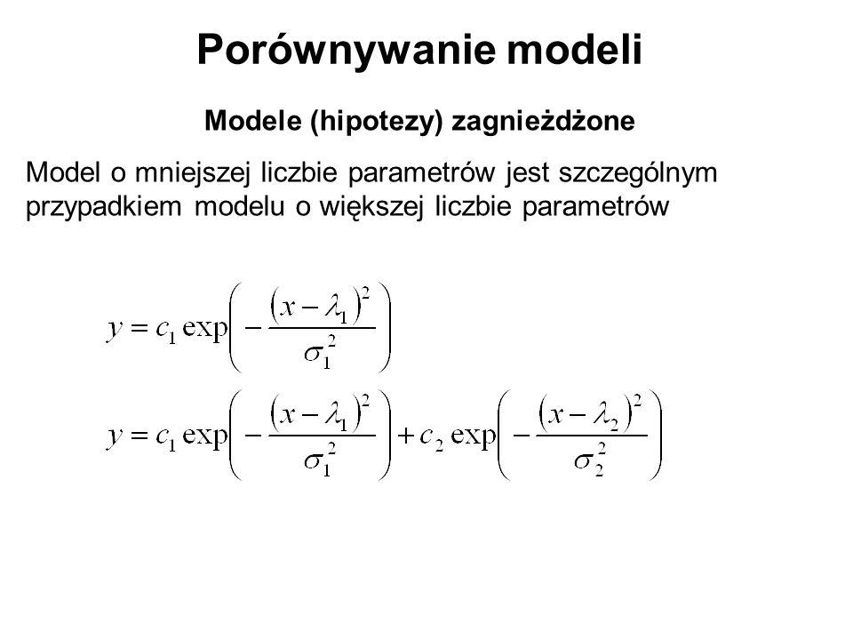 Modele (hipotezy) zagnieżdżone
