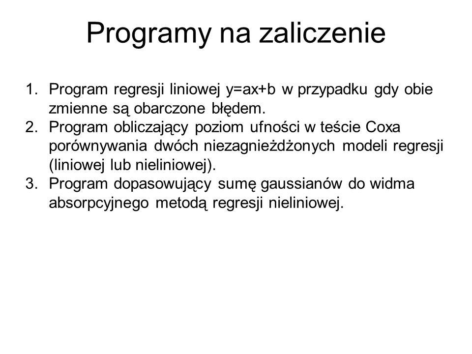 Programy na zaliczenie