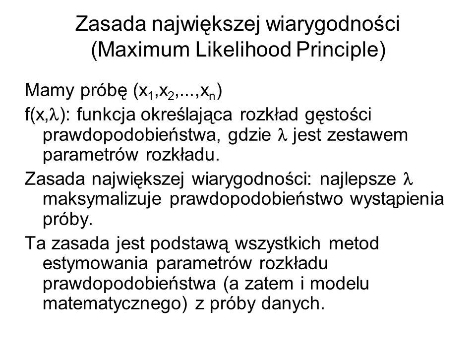 Zasada największej wiarygodności (Maximum Likelihood Principle)