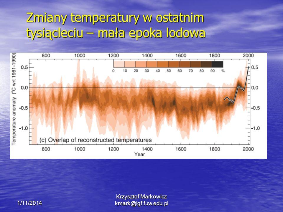 Zmiany temperatury w ostatnim tysiącleciu – mała epoka lodowa