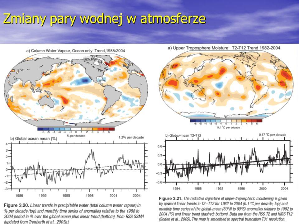 Zmiany pary wodnej w atmosferze