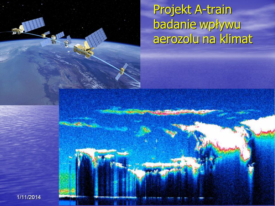 Projekt A-train badanie wpływu aerozolu na klimat