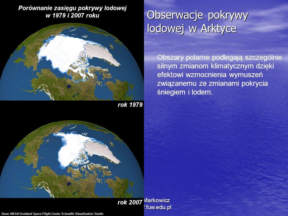 Obserwacje pokrywy lodowej w Arktyce