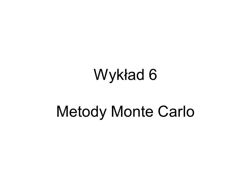 Wykład 6 Metody Monte Carlo