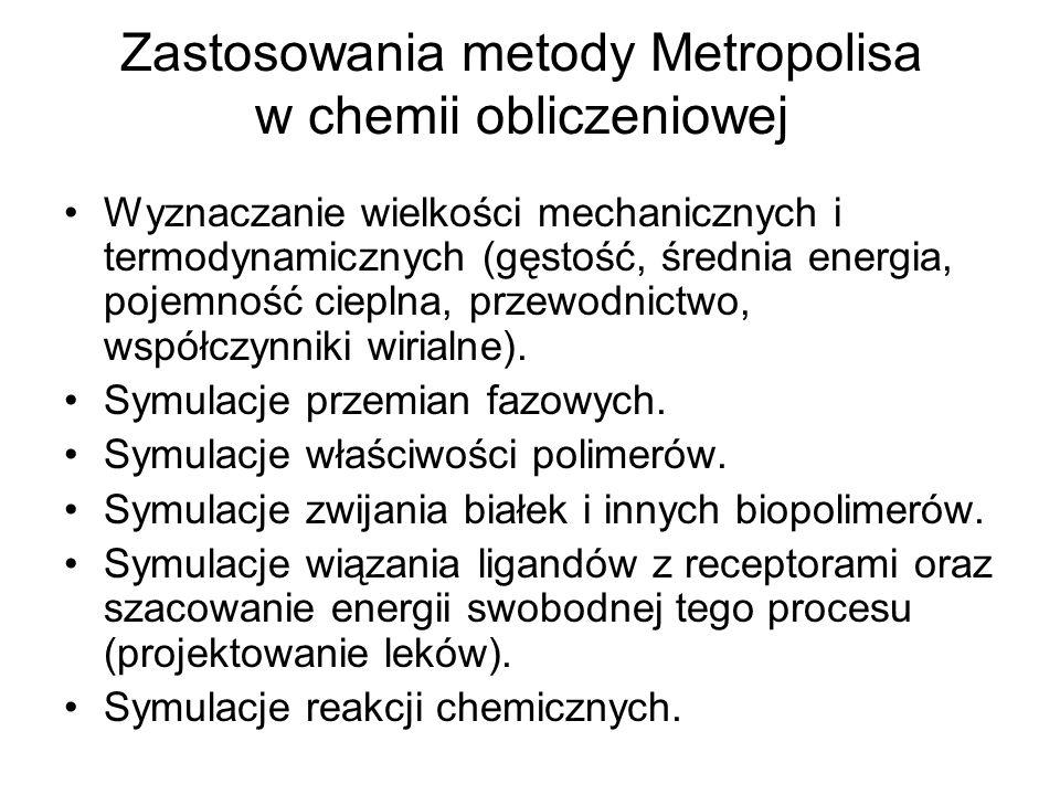 Zastosowania metody Metropolisa w chemii obliczeniowej