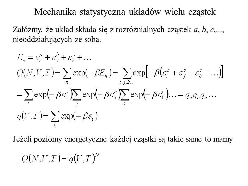 Mechanika statystyczna układów wielu cząstek