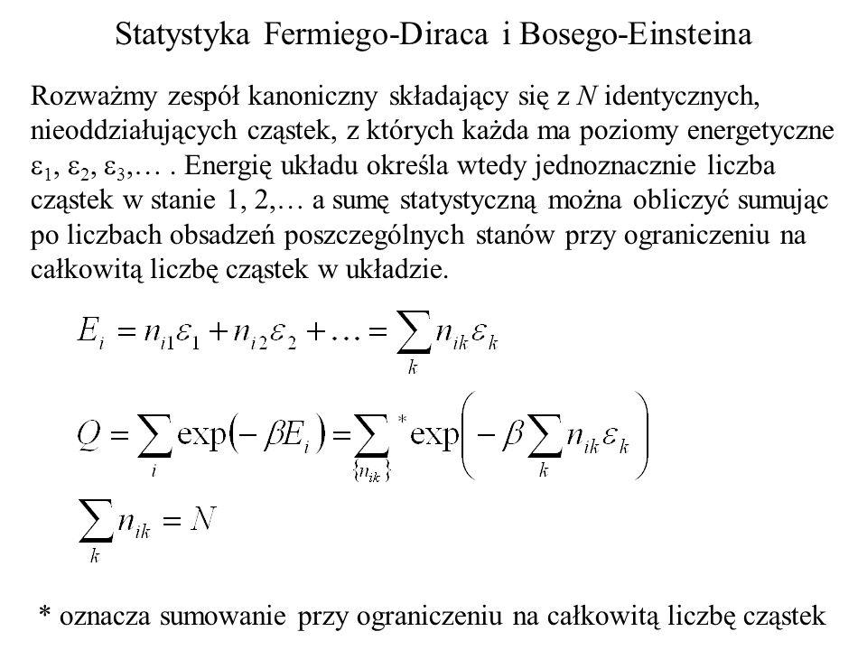 Statystyka Fermiego-Diraca i Bosego-Einsteina