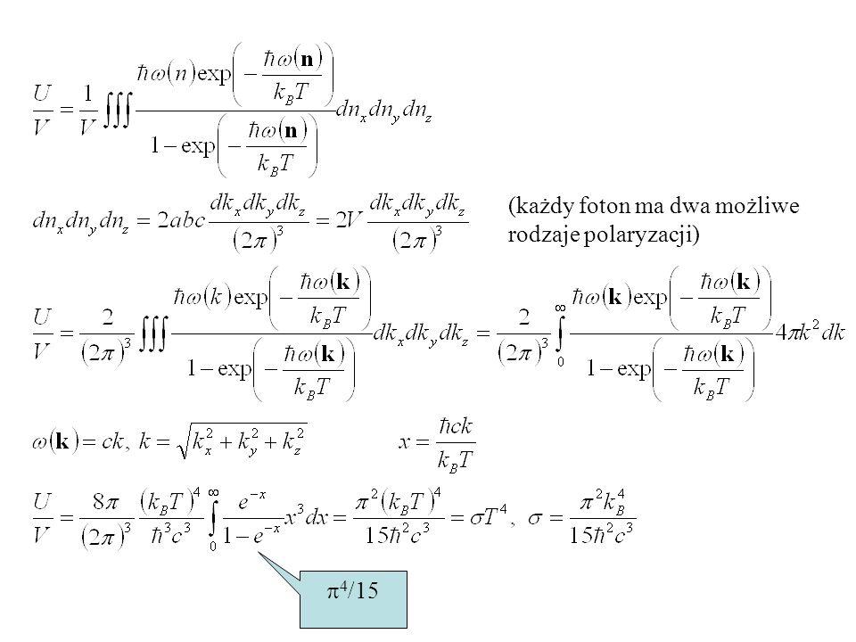 (każdy foton ma dwa możliwe rodzaje polaryzacji)