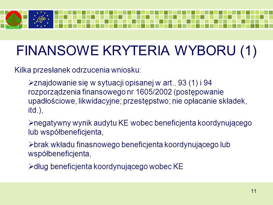 FINANSOWE KRYTERIA WYBORU (1)