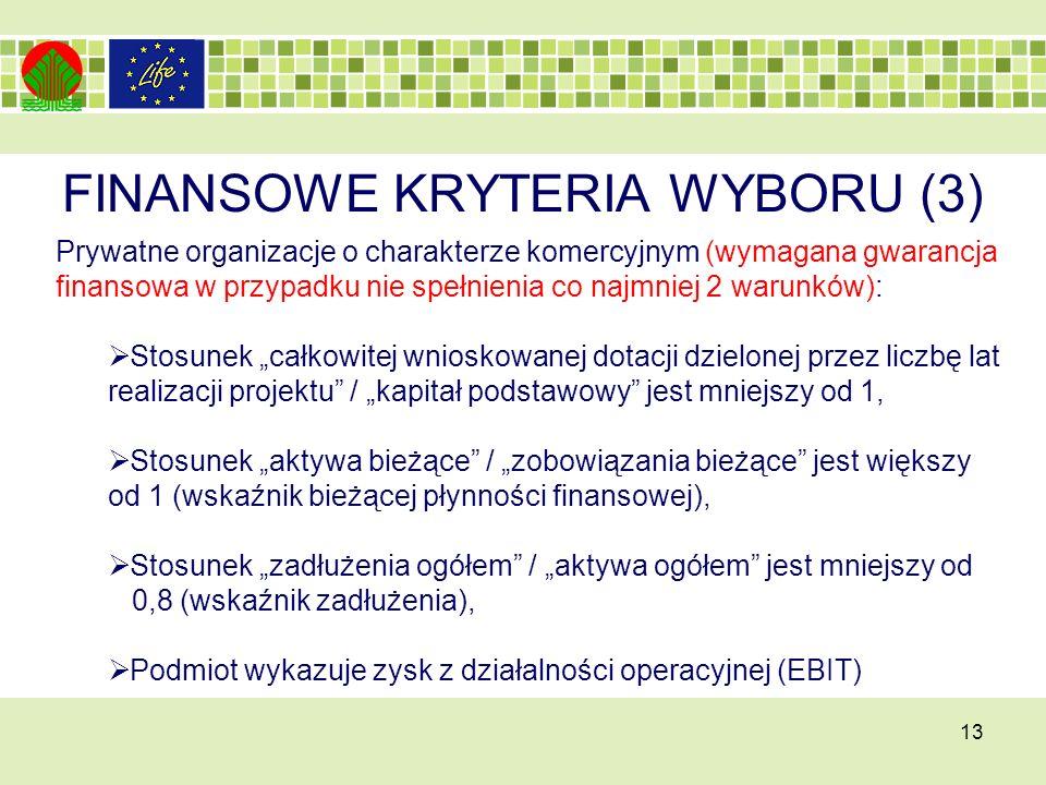 FINANSOWE KRYTERIA WYBORU (3)