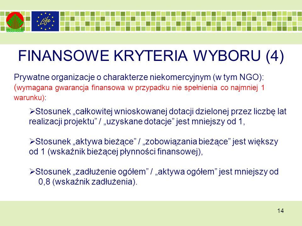 FINANSOWE KRYTERIA WYBORU (4)