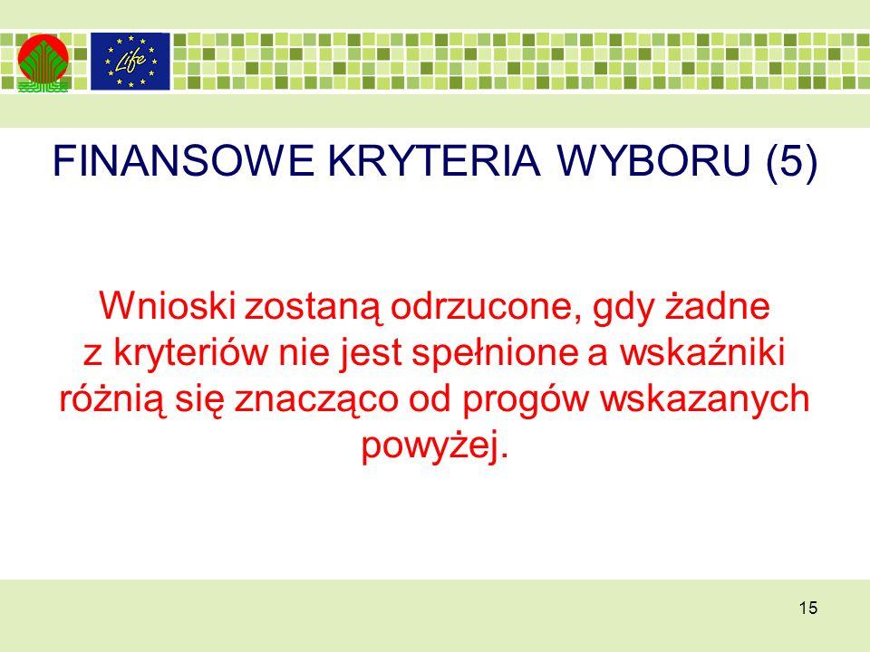 FINANSOWE KRYTERIA WYBORU (5)