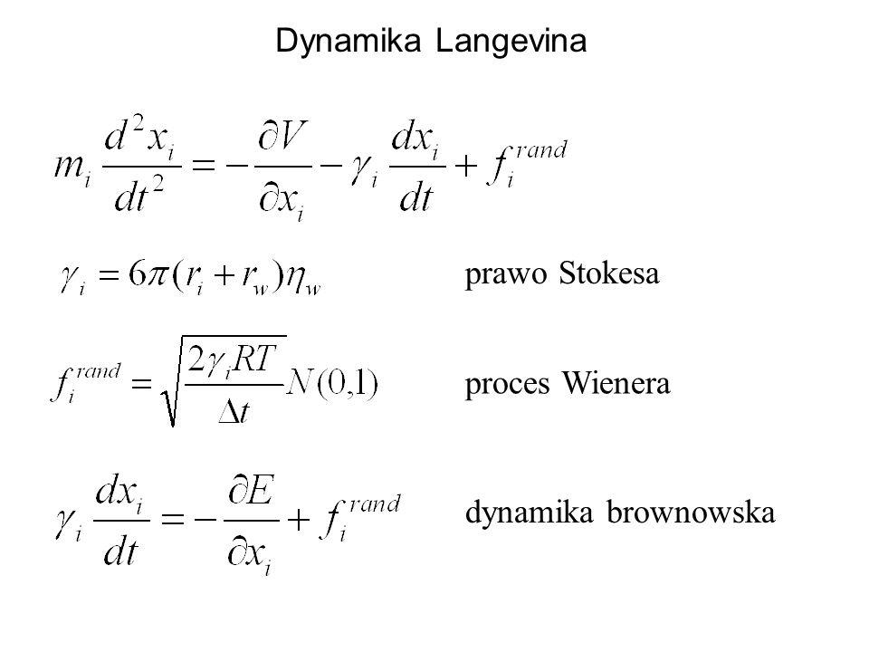 Dynamika Langevina prawo Stokesa proces Wienera dynamika brownowska