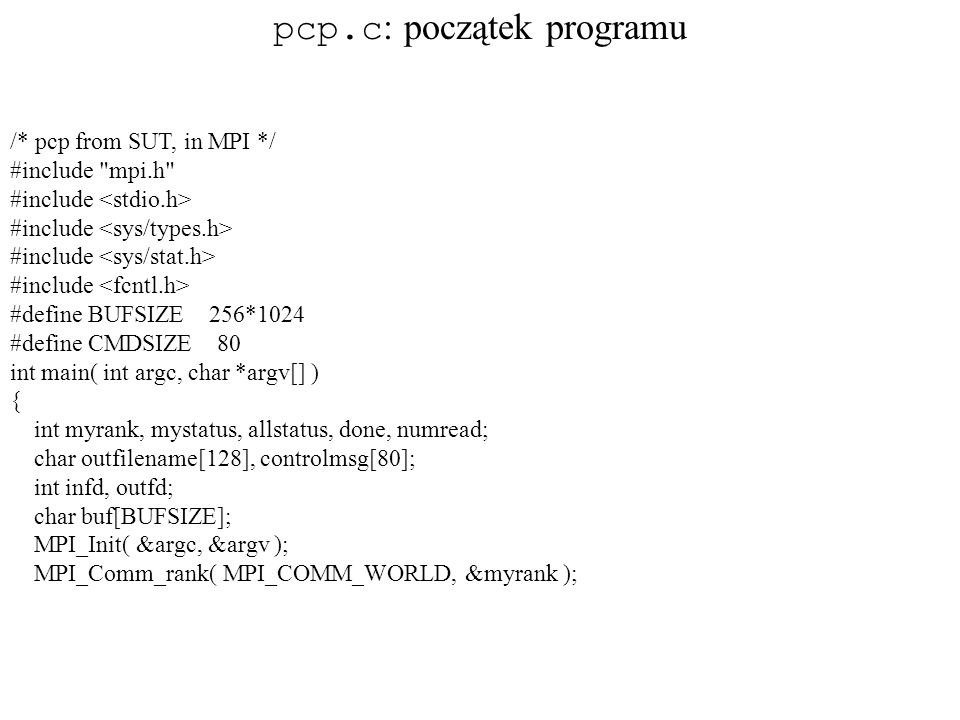 pcp.c: początek programu