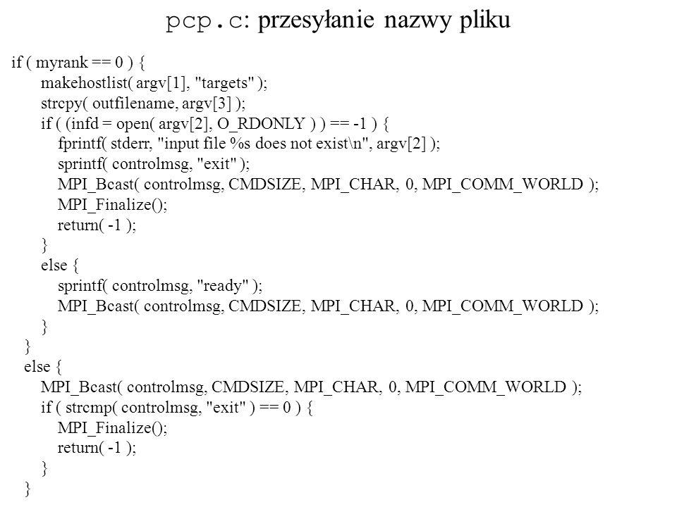 pcp.c: przesyłanie nazwy pliku