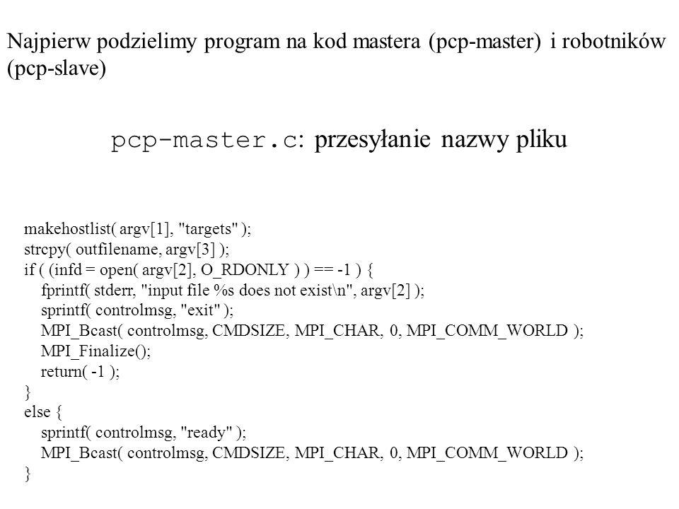 pcp-master.c: przesyłanie nazwy pliku