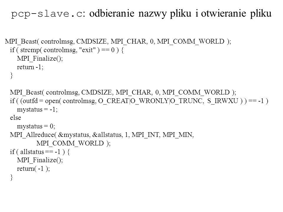 pcp-slave.c: odbieranie nazwy pliku i otwieranie pliku