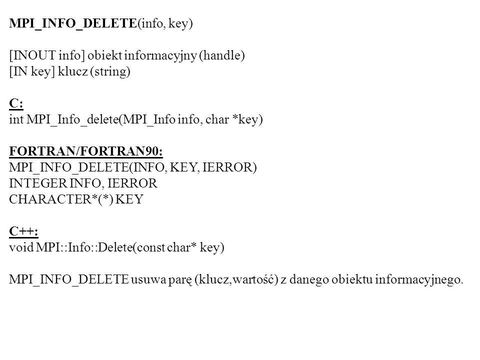 MPI_INFO_DELETE(info, key)