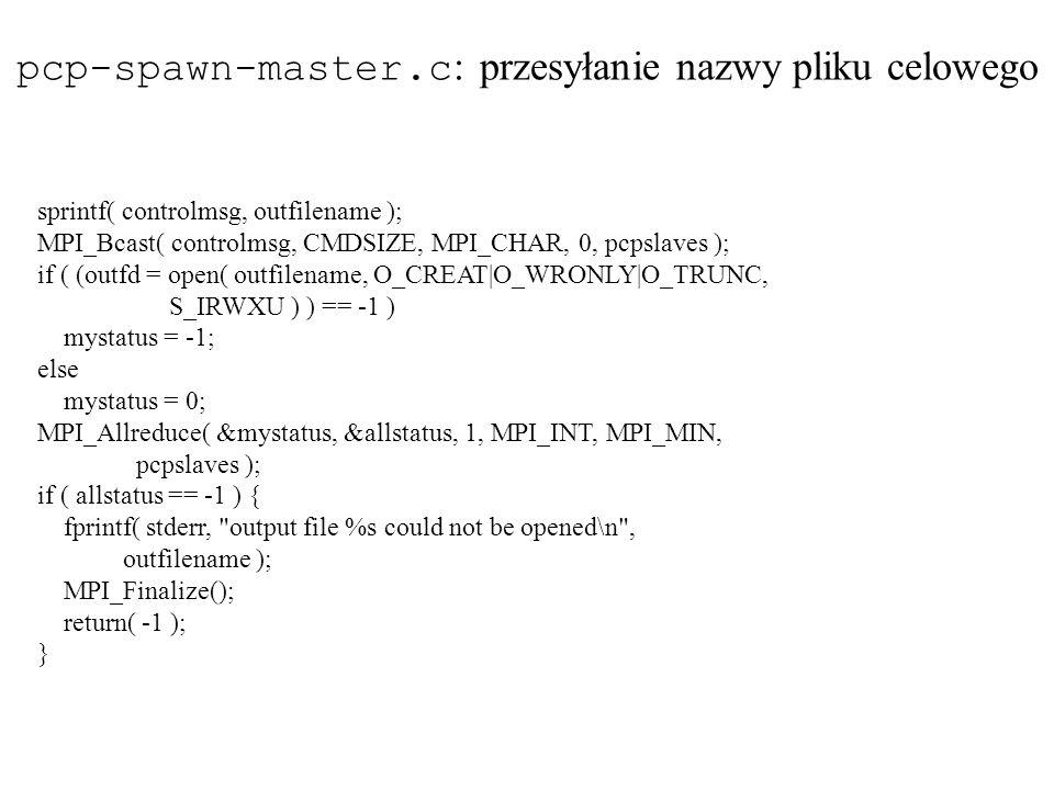 pcp-spawn-master.c: przesyłanie nazwy pliku celowego