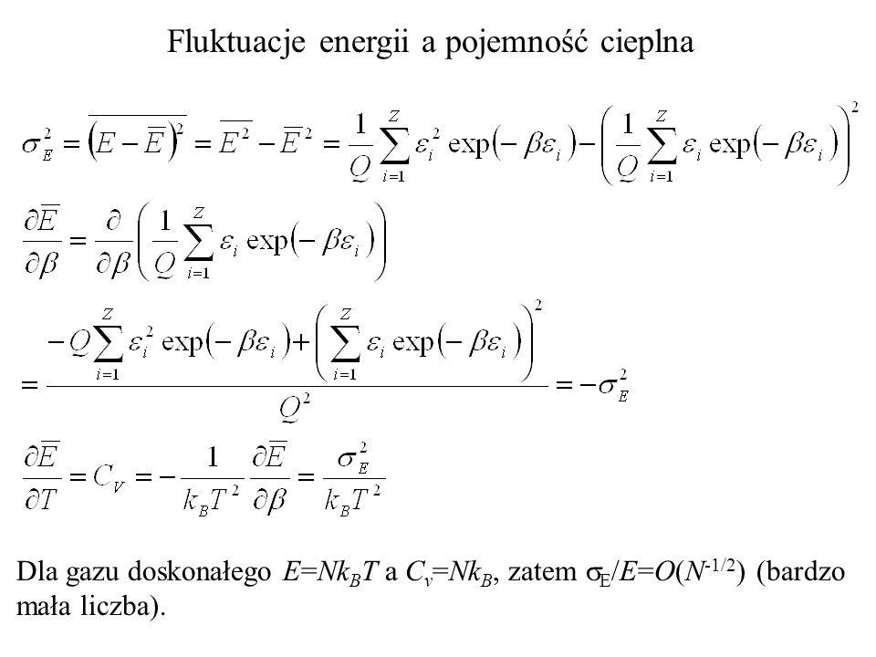 Fluktuacje energii a pojemność cieplna